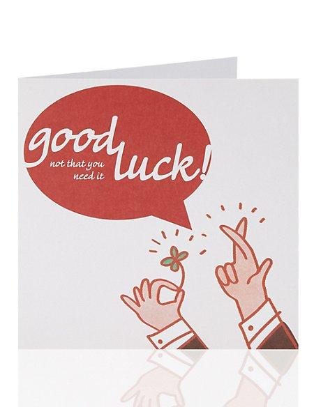 Good Luck Speech Bubble Greetings Card