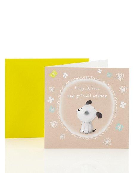Cute Teddy Get Well Soon Card