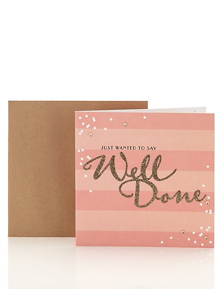 Well Done Gold Glitter Card