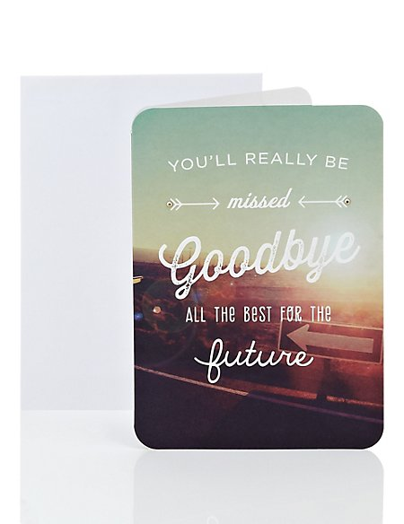 Hit The Road Leaving Card