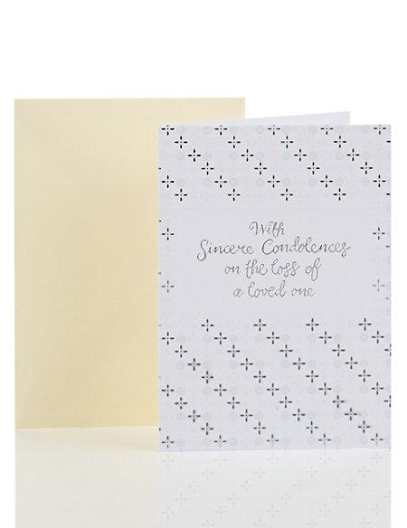 Silver Pattern Sympathy Card