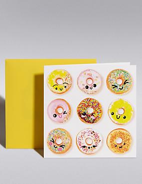Smiley Doughnuts Blank Card