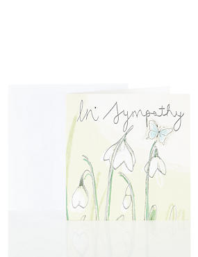 Snowdrops & Butterfly Sympathy Card