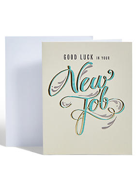 Glitter Text New Job Card