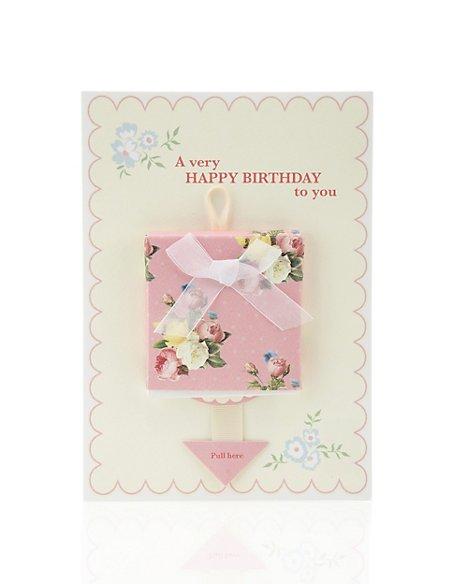 Floral Bunting Birthday Card Ms