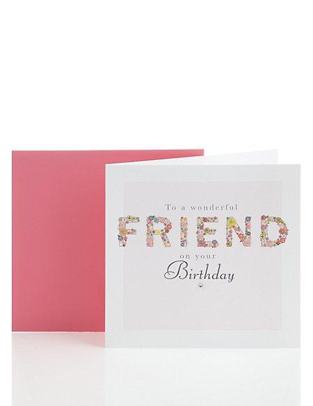 Decorative Friend Birthday Card