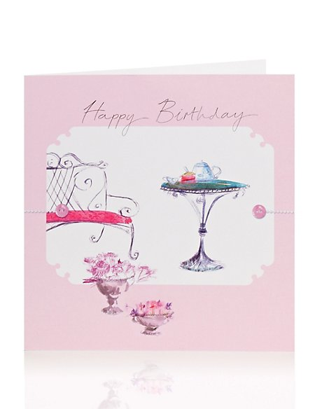 Sketchy Chair Birthday Card