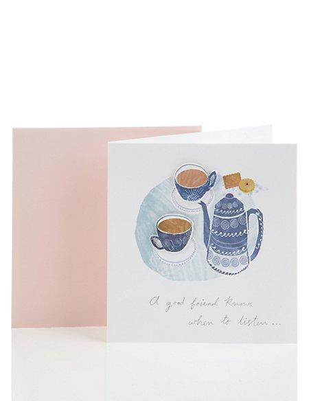 Classic Tea Table Friendship Card
