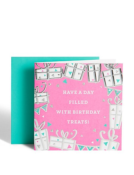 Silver Gifts Birthday Card
