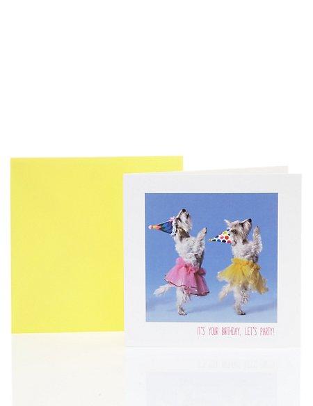 Fun Dancing Dogs Birthday Card