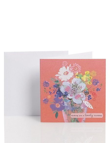 Contemporary Artistic Floral Card