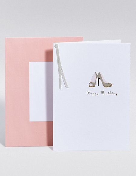 Party Shoes Birthday Card Ms