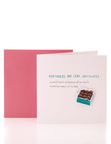 Box of Chocolates Sentimental Card