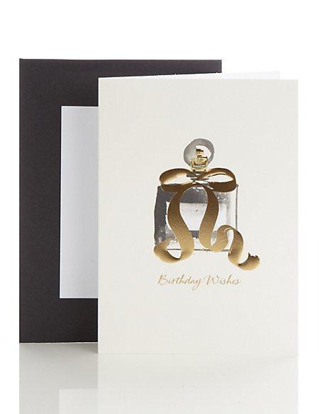 Perfume Bottle Birthday Card