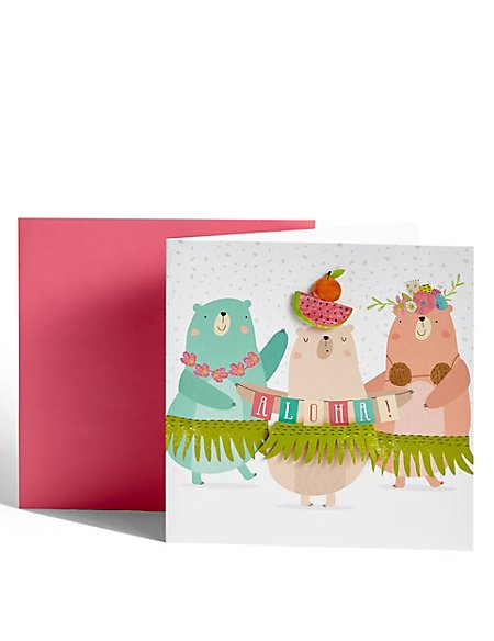 Dancing Bears Birthday Card