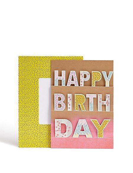 3D Pop Up Happy Birthday Card