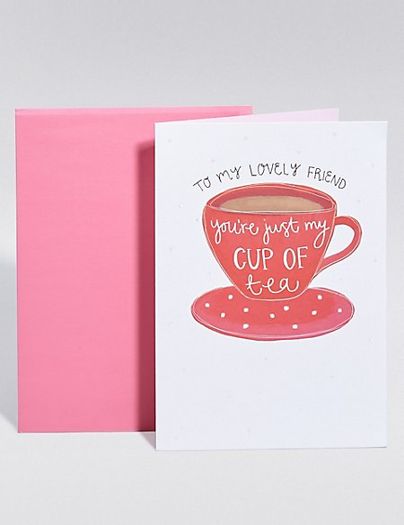 Cup of Tea Birthday Card