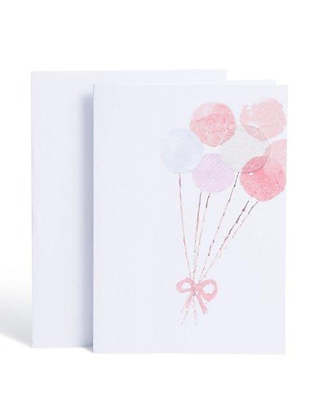 Pretty Balloons Birthday Card