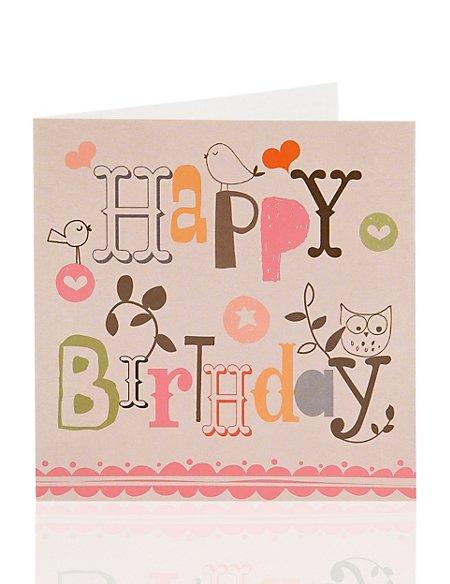 Value Birds Birthday Card For Her