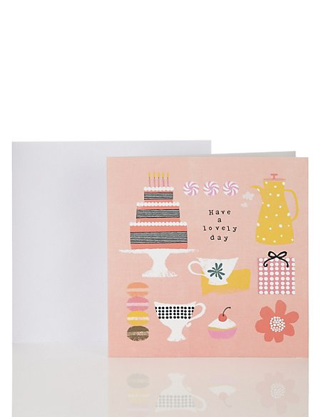 Tea & Cake Birthday Card
