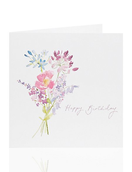 Floral Bouquet Birthday Card
