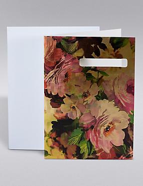 Gold Foil Floral Birthday Card