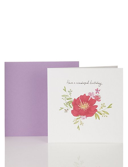 Classic Floral Birthday Card