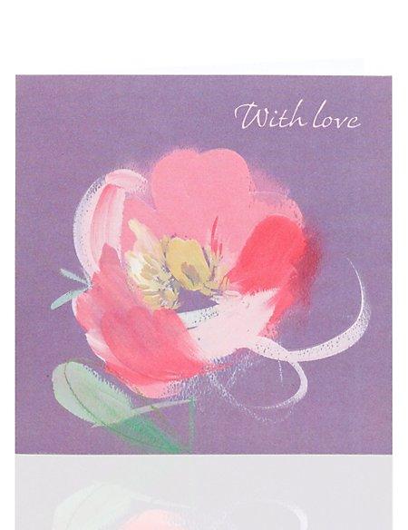 Arty Flower Birthday Card