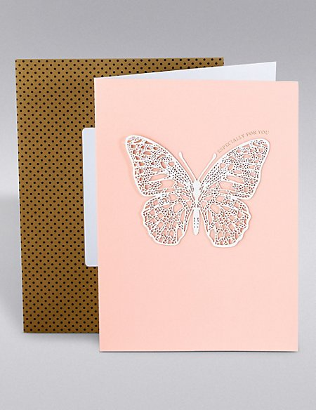 Especially For You Hand Finished Butterfly Card