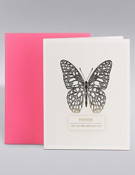 Friend Gold Butterfly Card