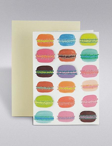 Glitter Macaroons Card