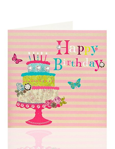 Tiered Cake Birthday Card
