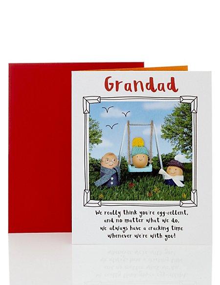 Egg-Cellent Egg Grandad Birthday Card