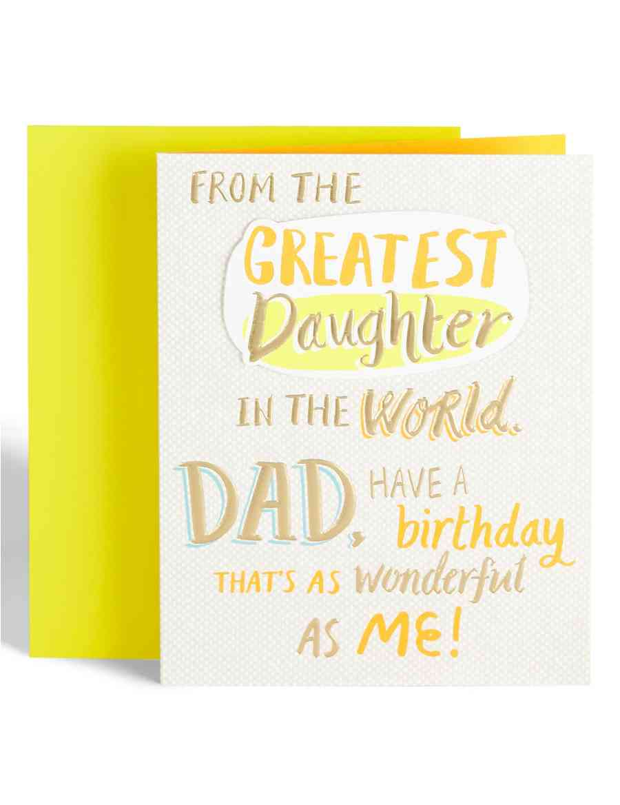 Dad From Daughter Birthday Card