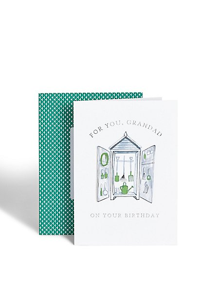 Garden Shed Grandad Birthday Card