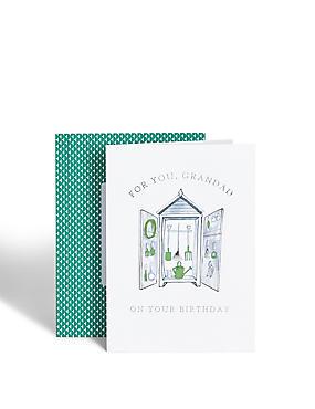 Garden Shed Grandad Birthday Card