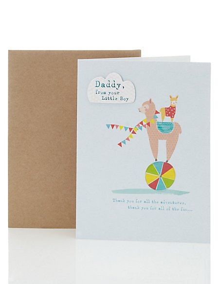 Daddy From Your Little Boy Card