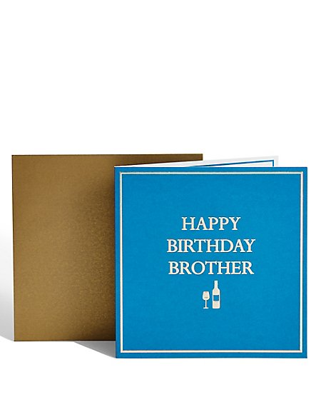 Brother Wine Birthday Card