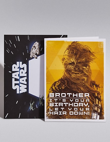 Brother Star Wars Birthday Card Ms