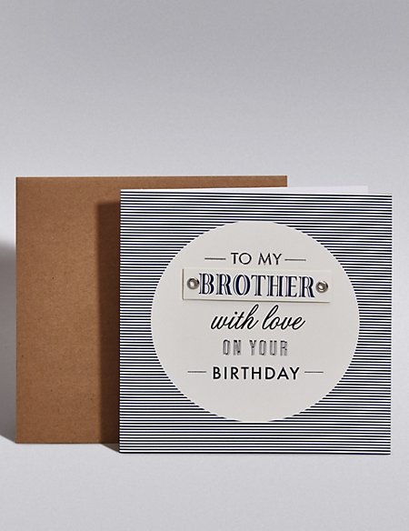 Stripes Brother Birthday Card
