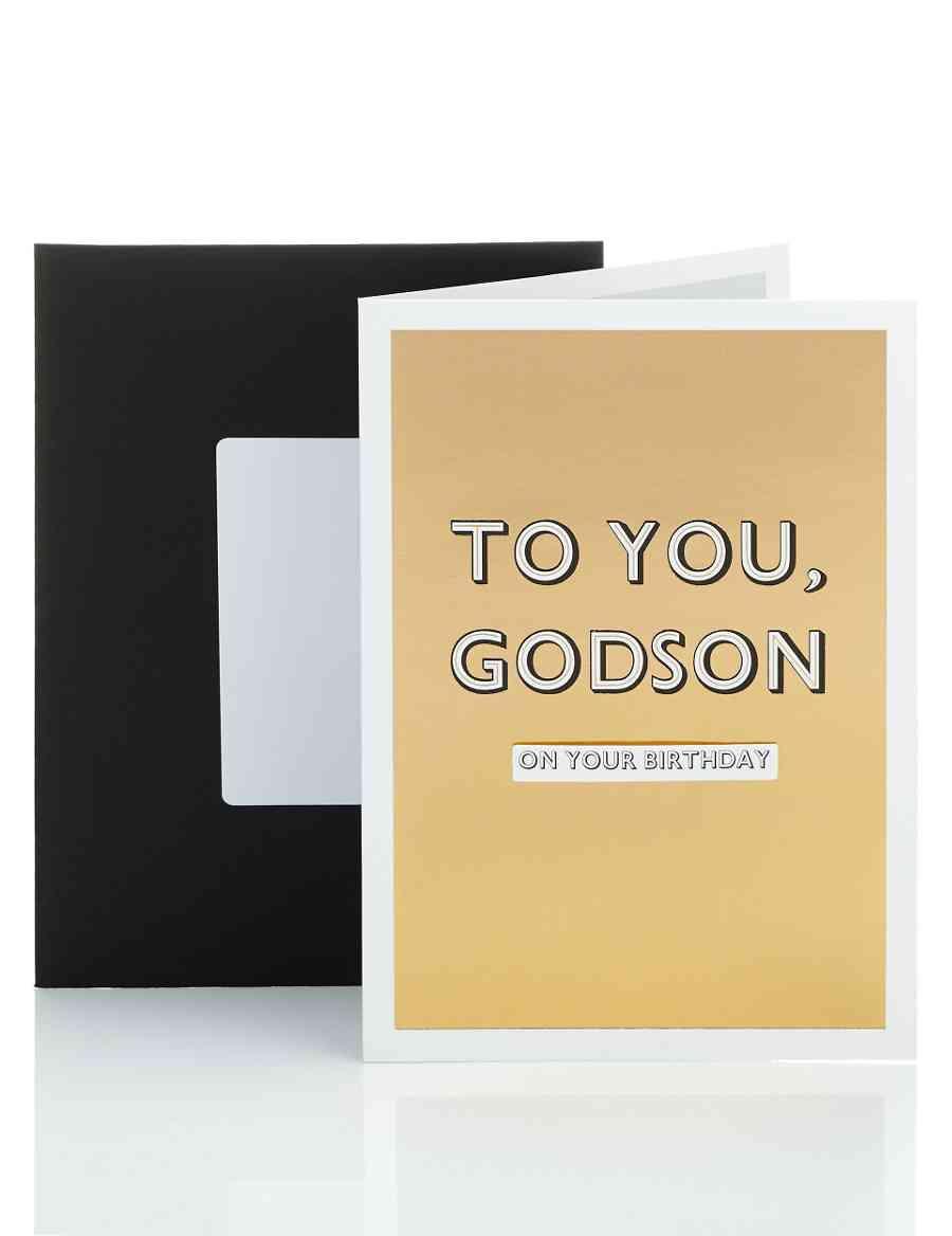 Godson Gold Foil Birthday Card