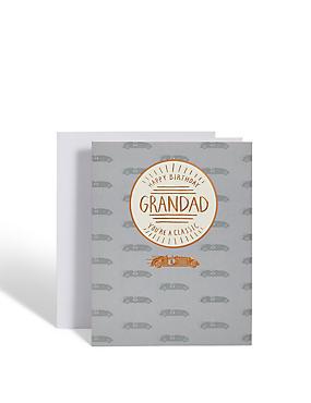 Grandad Racing Cars Birthday Card