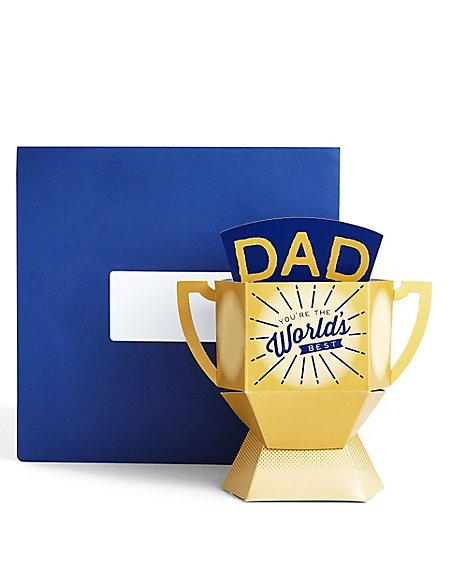Dad 3-D Trophy Card