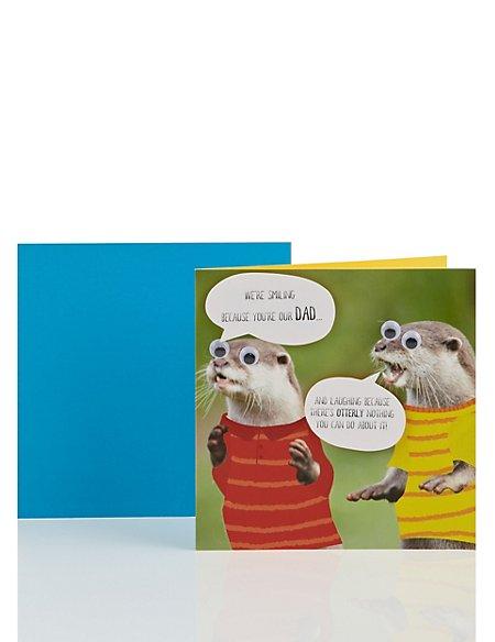 Googly-eyed Otters Dad Birthday Card