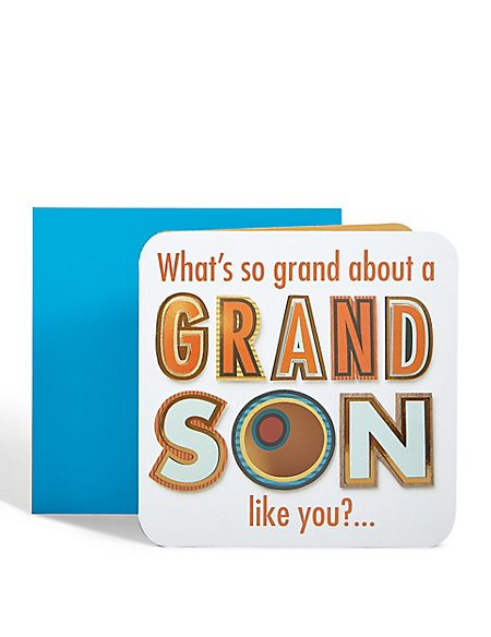 Grandson So Grand Birthday Card