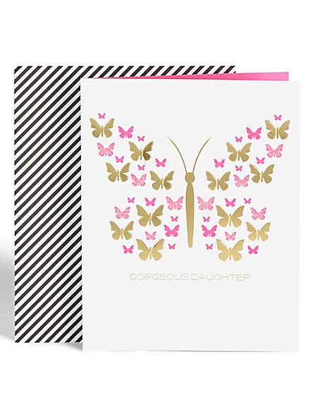 Butterfly Daughter Birthday Card