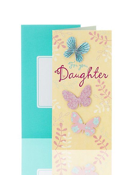 Origami Butterflies Daughter Birthday Card Ms