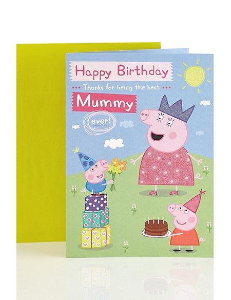 Peppa Pig Mummy Happy Birthday Card Ms