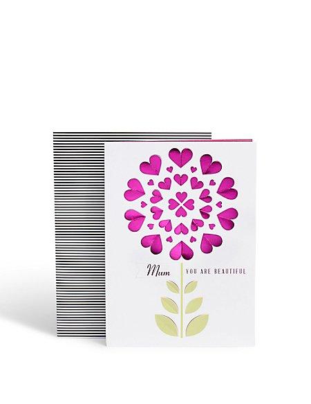 Mum Die Cut Birthday Card