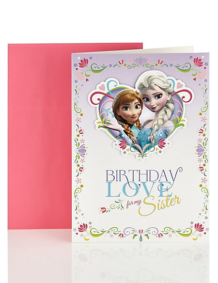 Frozen Birthday Card for Sister